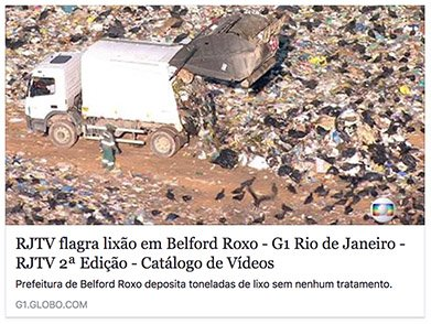 RJTV flagra lixão em Belford Roxo