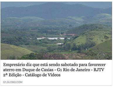 RJTV 2ª Edição Empresário diz que está sendo sabotado para favorecer aterro em Duque de Caxias